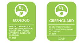 UL Ecologo et UL Greenguard Gold