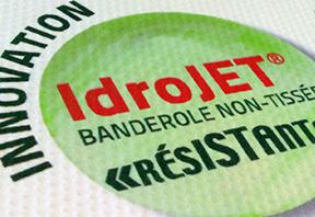 Pensez à l'IdroJET pour vos banderoles d'extérieur