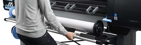 Chargement frontal HP Designjet Z6800