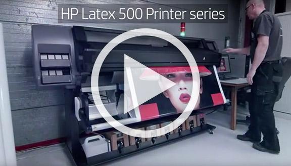 Vidéo HP Latex 500 Series