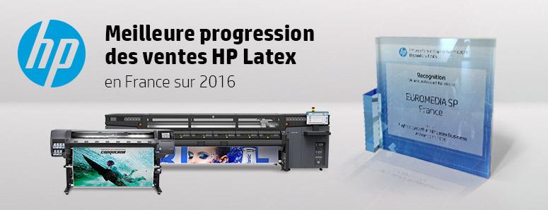 Meilleure progression des ventes HP Latex