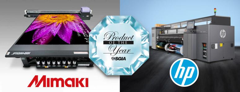 Mimaki et HP élus produit de l'année SGIA 2017