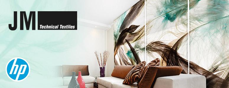 Stores JM Textiles personnalisés avec HP Latex