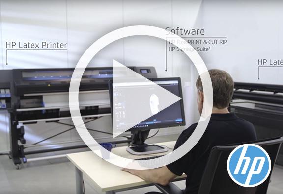 Nouvelles solutions Impression & Découpe HP Latex