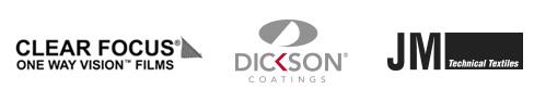 Distributeur ClearFocus, Dickson et JM Textiles