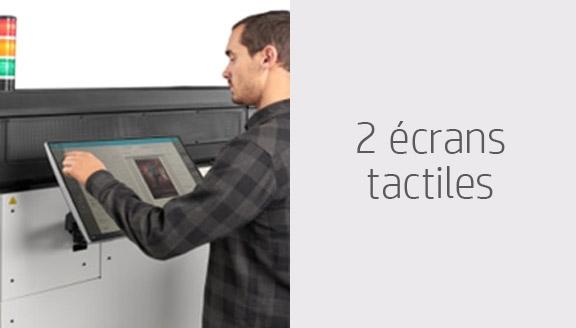 2 écrans tactiles