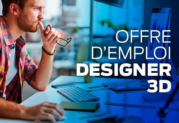 Recrutement designer 3D
