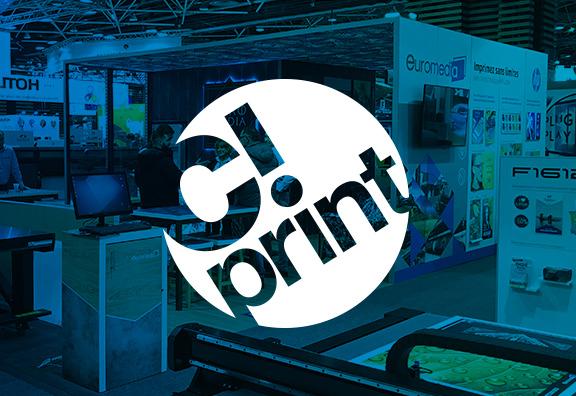 2 stands Euromedia à C!Print 2019