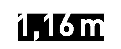 116 cm