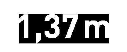 137 cm