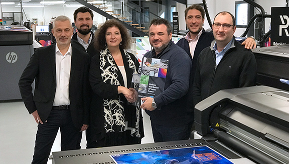Remise du prix de 1er distributeur HP Latex France 2019