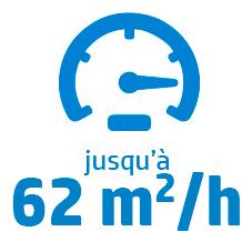 Vitesse maximum S300 : 62 m2/h