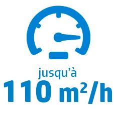 Vitesse maximum S500 : 110 m2/h