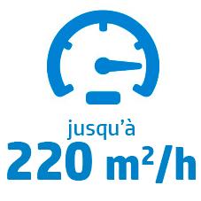 Vitesse max S1000 : 220 m2/h