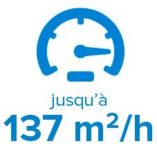 SWJ-320 EA : jusqu'à 137 m2/h