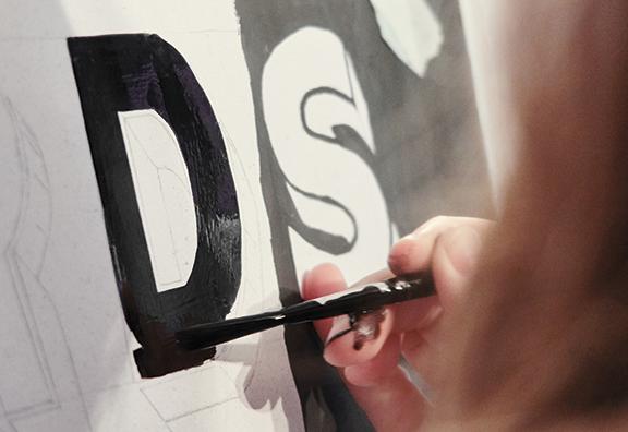 Métier de peintre en lettres
