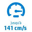 Vitesse max: 141 cm/s