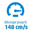 Vitesse max: 14x8 cm/s